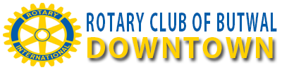 logo for rotary club of butwal downtown